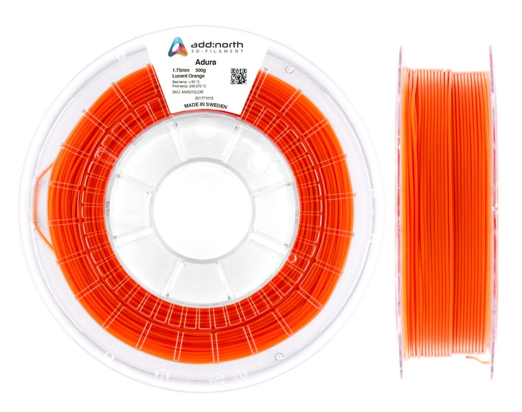Adura™ - 1.75mm - 500g - Lucent Orange