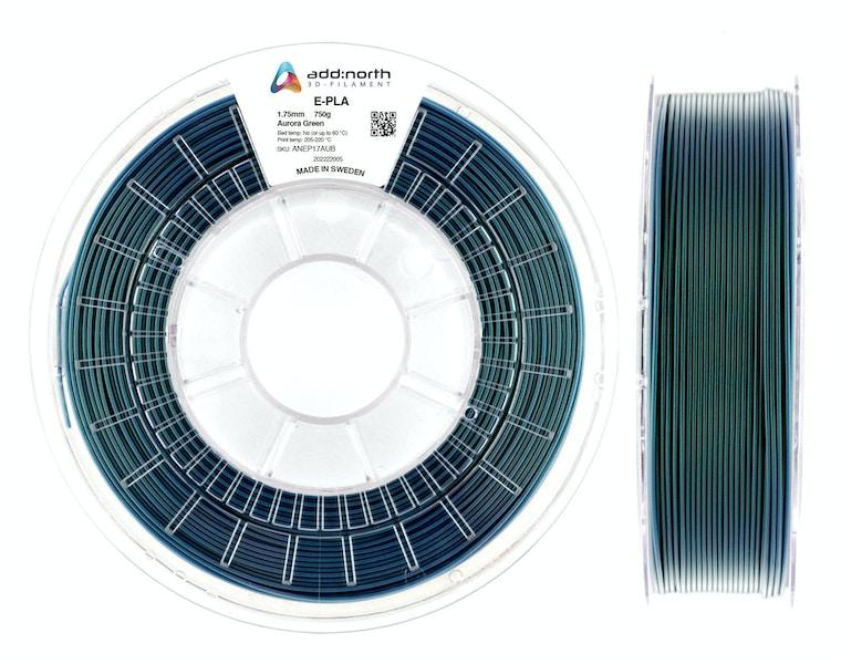 E-PLA - 1.75mm - 750g - Aurora Green