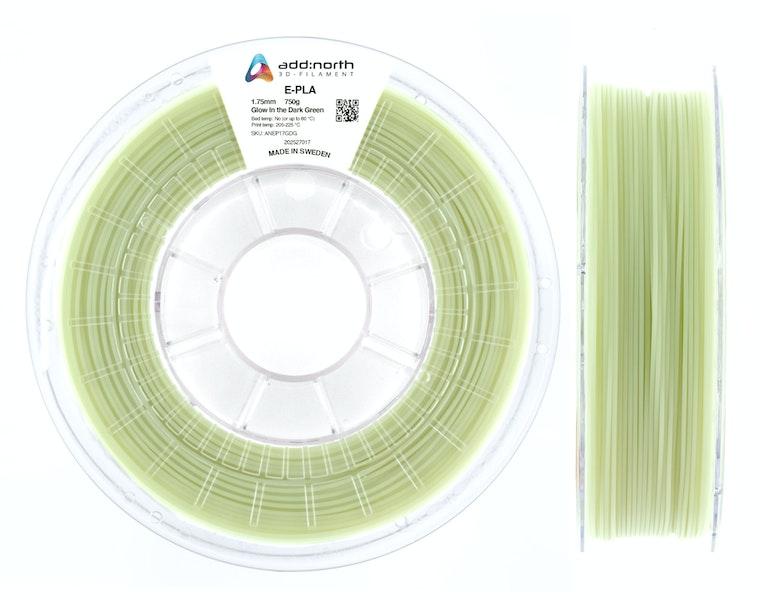 E-PLA - 1.75mm - 750g - Glow in the Dark Green
