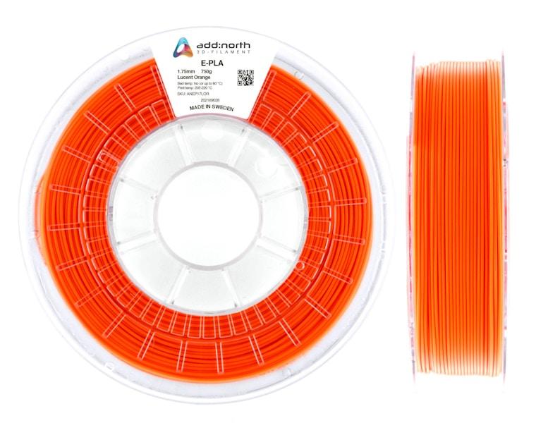 E-PLA - 1.75mm - 750g - Lucent Orange