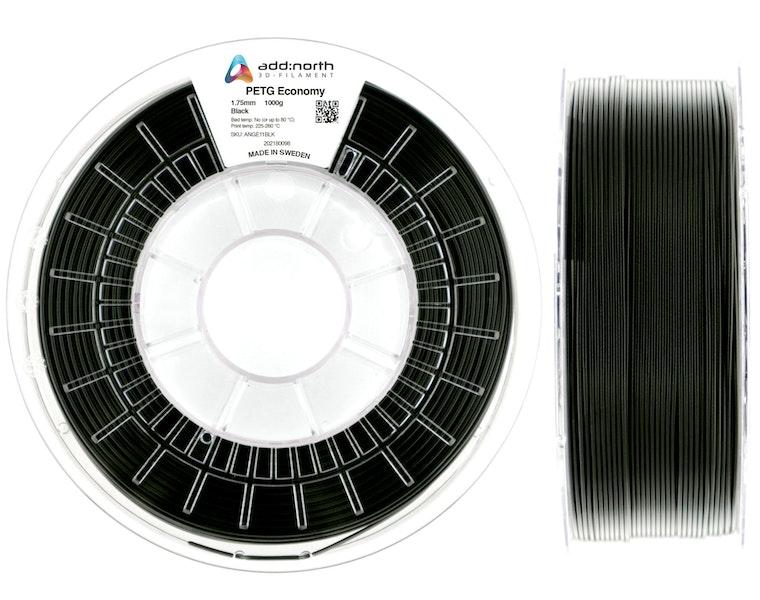 PETG Economy - 1.75mm - 1000g - Black