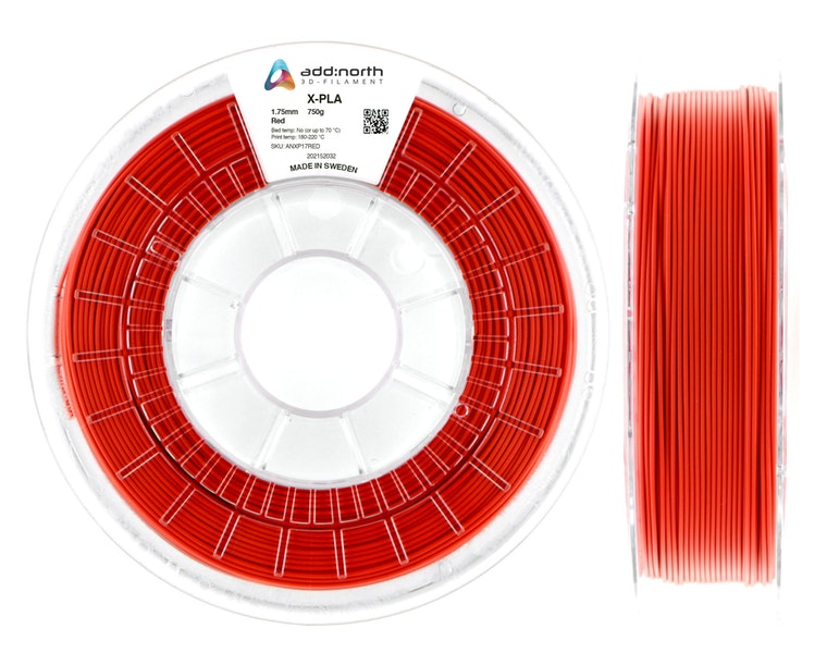 X-PLA - 1.75mm - 750g - Red